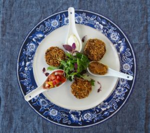 Lunch butternut and chickpea croquettes