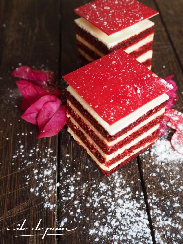 Red velvet passion cake